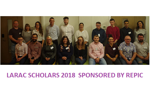 This year's scholars, plus Alyce Morris from REPIC (top right)