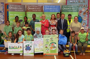 The pupils at St John with St Mark CE Primary School are praised for their efforts to recycle and tackle litter.