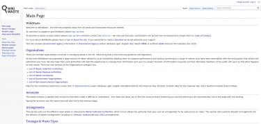 WikiWaste Main page