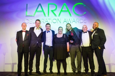 Best New Idea was won by Cornwall Council, and the team pictured here with (r) Jonathan Wragg of sponsor MGB Plastics and (l) Lee Marshall, LARAC