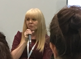 Carole Taylor steering the debate on DRS at RWM