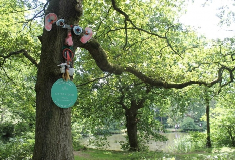 Hubbub, communitrees, holiday activity, tree faces, local artists, crime reducing